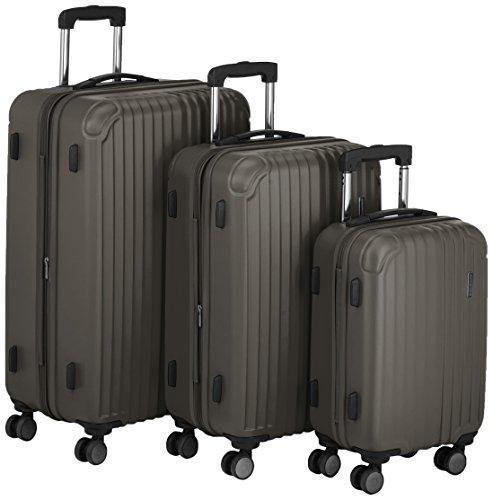 Hauptstadtkoffer - Q-Damm - Set of 3 Hard-side Luggages Trolley Hardside Suitcase Expandable, TSA, (S, M & L), Graphite matt