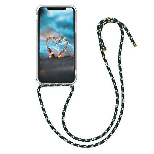 Upxiang Silikon Handyhülle Handykette Retractable Lanyard kompatibel für iPhone X/iPhone X MAX/iPhone XR/iPhone 7/8/iphone 7/8 Plus Zubehör Smartphone Necklace Hülle mit Band (für iPhone XR, F)