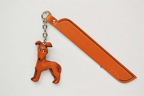 WIPPET Leder Hund Charm Lesezeichen Vanca handgefertigt in Japan... -
