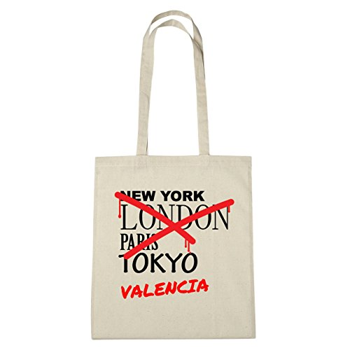 JOllify Valencia di cotone felpato B3662 schwarz: New York, London, Paris, Tokyo natur: Graffiti Streetart New York