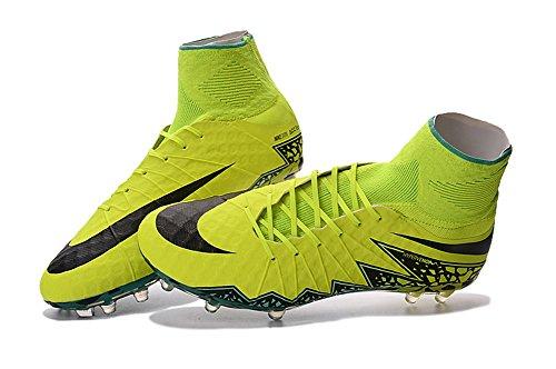 Frank Veste de football Hypervenom Phantom II FG Bottes Chaussures, Homme, Green, 40