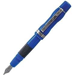 Delta DH91335 - Pluma estilográfica, color azul, acero, tamaño mediano