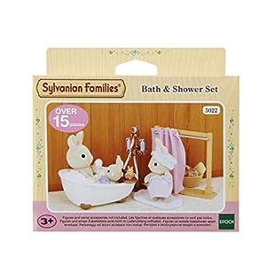 Sylvanian Families 5022 5022-Bad und Dusch-Set, Puppenzubehör, Multi