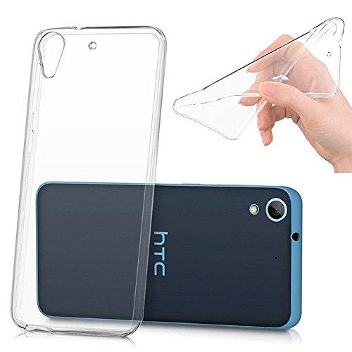 HTC Desire 626 Étui HCN PHONE® Coque Silicone Gel Souple Ultra Fine pour HTC Desire 626 - TRANSPARENT