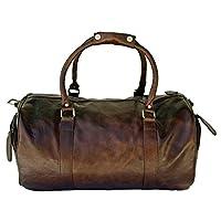 "CRAFAT 22"" Premium Quality Brown, Buffalo Leather Travel Duffel Bag/Travelling Bag"