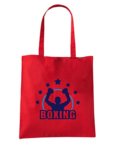 T-Shirtshock - Borsa Shopping TBOXE0114 White boxing4 Men Rosso