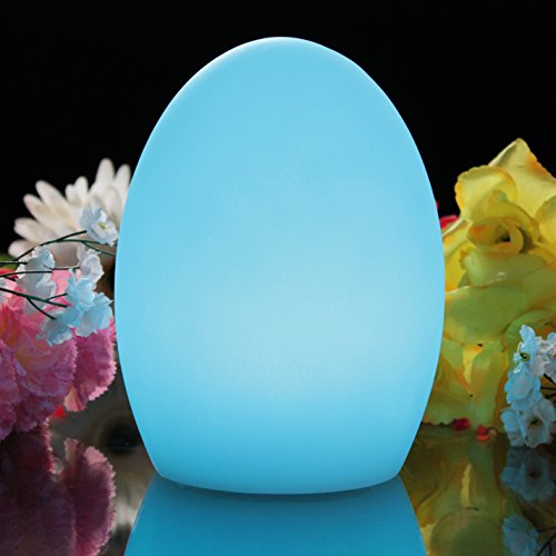Ei-lampe (19cm RGB Stimmungslicht mit Farbwechsel - Ei Lampe Tischleuchte Nachttischlampe für Deko, Kinder, Zimmer von PK Green)