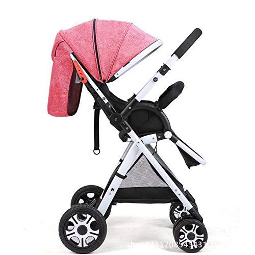 Schwenkbarer Griff (YANGSANJIN Kinderwagen Sonnenschirm, Kinderwagen Sonnenschirm - Kinderwagen Buggy - Buggy rosa - Leicht und kompakt zusammenklappbarer Sportwagen, Stoßstange, Einkaufskorb, Powder)