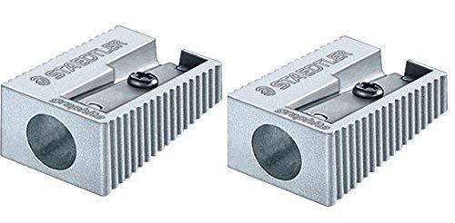 Staedtler monoforo temperamatite in alluminio di qualità x 2