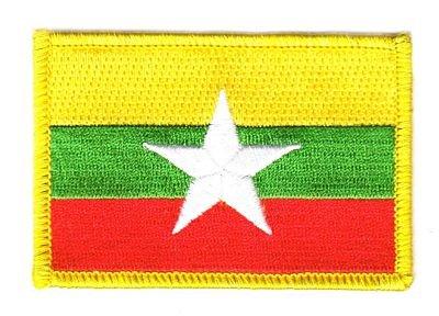 Flaggen Aufnäher Patch Myanmar Fahne Flagge