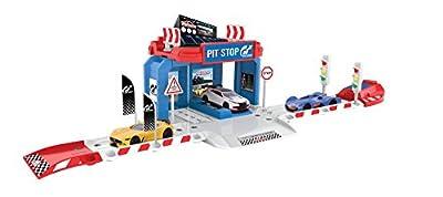 Majorette 212050002 - Vision Gran Turismo Pit Stop, 1 car, Autobahnen/Zubehör von Dickie Spielzeug