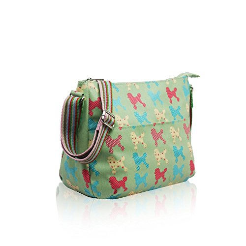 YourDezire ,  Damen Tasche Light Green/Poodle