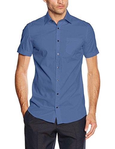 s.Oliver BLACK LABEL, Camicia Uomo Blau (retro blue 5374)