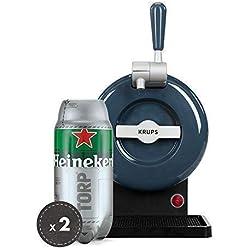 Pack THE SUB | Tirador de cerveza de barril, THE SUB Grey Edition, 2 TORP Heineken barril de cerveza de 2 litros