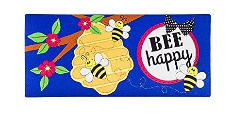 Evergreen dekorative Bee Happy, Boden Matte einfügen, 25,4x 55,9cm