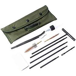 HEITIGN 11 Pcs/Set Kit De Nettoyage De Fusil pour Carabine, Outils De Nettoyage pour Pistolet De Nettoyage De Brosse en Nylon pour Tige De Nettoyage, pour Les .22LR.223.257