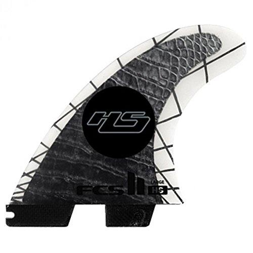 FCS Unisex II HS PC Carbon Tri-Quad aletas
