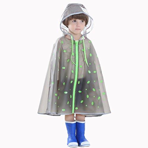ZPWSNH Regenmantel Kinder Regenmantel Kindergarten Kind Poncho Student Langarm Tragbare Mode Transparent Outdoor wasserdichte Regenmantel Regenmantel (Color : B, Size : XL) -