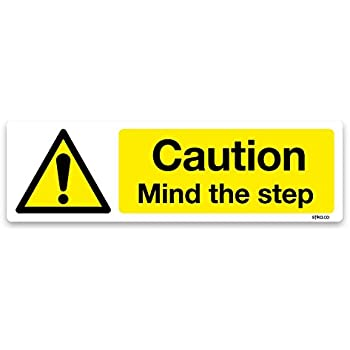 Mind Your Head Black On Yellow Warning Sign Or Sticker Choice of 3 Sizes