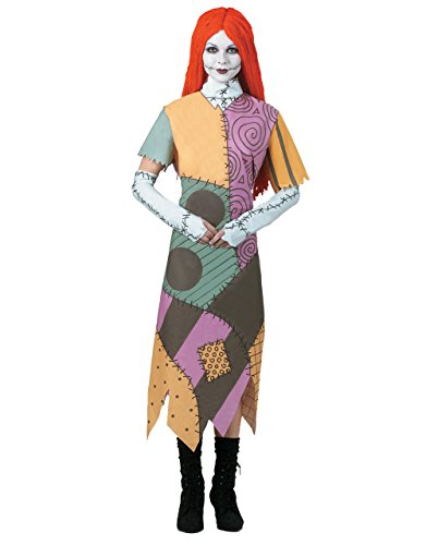 Nightmare Before Christmas Kostüm, Kinder Sally Teen Outfit, groß, (USA 12–14), Brust 96,5–101,6 cm Taille 76,2–81,3 cm Höhe 5 '20,3 cm – 5' 22,9 cm