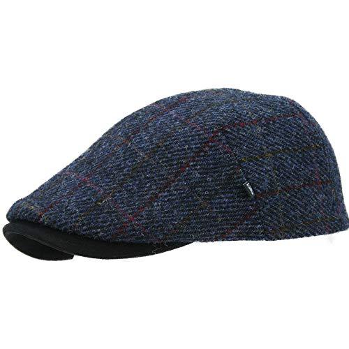 Balke Gatsby Harris Tweed Flatcap scot blau Sportmütze