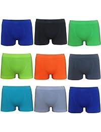 Boxers shorts SEAMLESS microfibre pour homme - caleçon sans couture - sous-vêtement - Lot de 2 4 5 6 - Maille M-XXL
