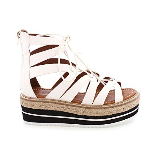 Sixtyseven 77919-Scarpe per abbigliamento da donna, Bianco (Pobur blanco), 40