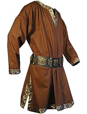 Tunika mit langem Arm, braun, Größen M, L, XL, XXL Mittelalter