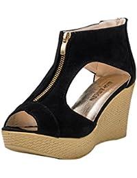 Transer® Zapatos de mujer Sandalias de verano Casual Peep Toe Platform Wedges Sandalias Zapatos