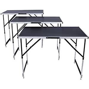 Tectake tavolo di lavoro in alluminio per carta da parati - Tavolo pieghevole fai da te ...