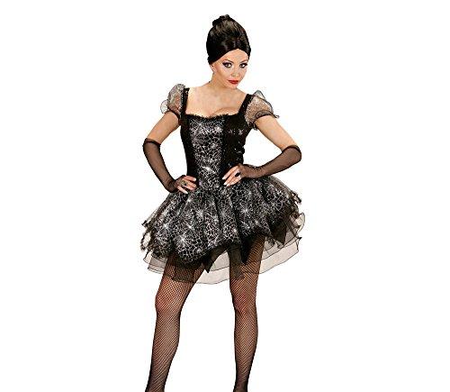 Kostüm Spider Halloween Lady (Widmann 73534 - Erwachsenenkostüm Spider Lady, Kleid und fingerlose Handschuhe, Gröߟe)
