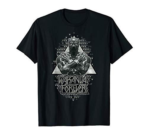 Marvel Black Panther Crossed Arms Geometric Graphic T-Shirt (Black Panther-marvel Shirt)