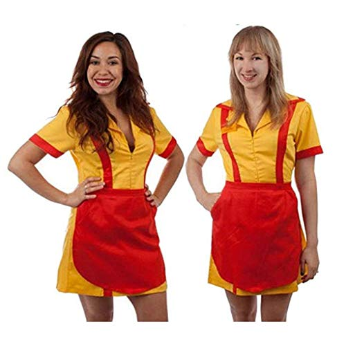 2 Broke Girls Max and Caroline Diner Waitress Costume - 2 Broke Girls Caroline Kostüm