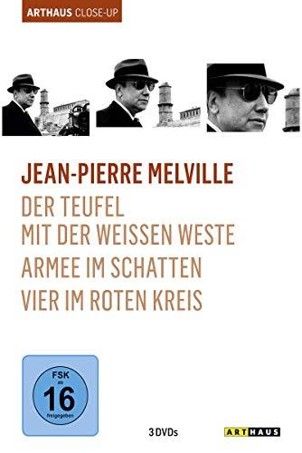 Jean-Pierre Melville - Arthaus Close-Up ( Der Teufel mit der weißen Weste / Armee im Schatten / Vier im roten Kreis ) [3 DVDs] -