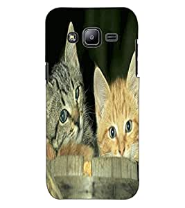 ColourCraft Cute Kittens Design Back Case Cover for SAMSUNG GALAXY J2 DUOS