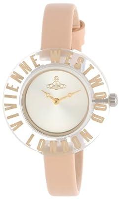 Vivienne Westwood VV032RD - Reloj analógico de cuarzo para mujer, correa de cuero