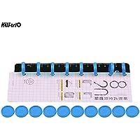 Leepesx Anillo de encuadernación de disco KW-trio Diámetro del anillo de 25 mm Accesorios para accesorios de regla de 12 agujeros DIY T Agujero de hongo Hoja suelta A4 Cuaderno Bloc de notas Carpeta