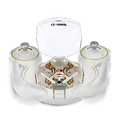 Cheerson CX-10WD TX Mini Wifi FPV RC Quadcopter with High Hold - Gold by Cheerson