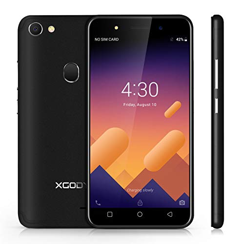 Xgody X6 Android 8.1 Smartphone Unlocked, 5 inch Touch Screen SIM Free Mobile Phone, 3G Dual SIM,1GB RAM+8GB ROM,13MP+5MP Dual Camera, WiFi, GPS, G-Sensor,Bluetooth Cell Phone(Black) Unlocked Touch Screen Cell Phone
