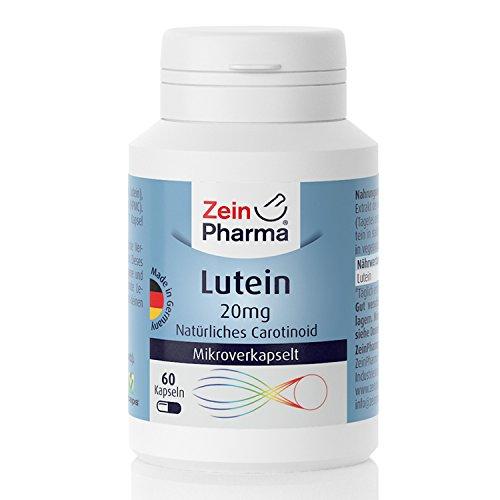 Cápsulas de Luteína 20mg de ZeinPharma • 60 cápsulas (2 meses de suministro) • sin...