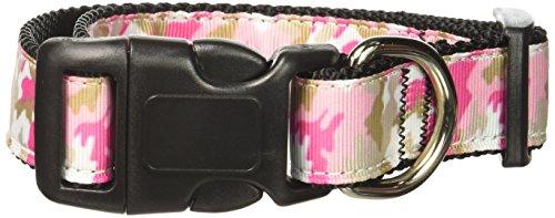 Pink Camo Hundehalsband Medium (Mirage Pet Products Pink Camo Nylon Halsband für Haustiere, Medium)