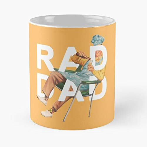 Rad Dad Father Fathers Day Bbq Beer Outdoor Outside Family Outing Orange - Best 11 oz Kaffee-Becher - Tasse Kaffee Motive -