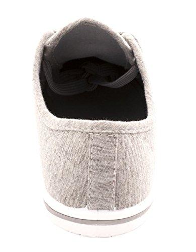 Elara Basic Sneakers   Sneakers Sportive Comode   Allacciatura Bassa   Grigio Chunkyrayan