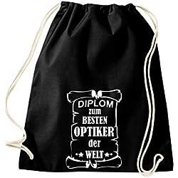 Shirtstown, Sac de gym diplôme au meilleur Opticien le monde, noir
