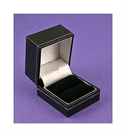 Boîte à Bague en similicuir Noir