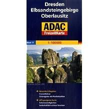 Carte touristique : Dresden, Elbsandsteingebirge, Oberlausitz, N° BI17