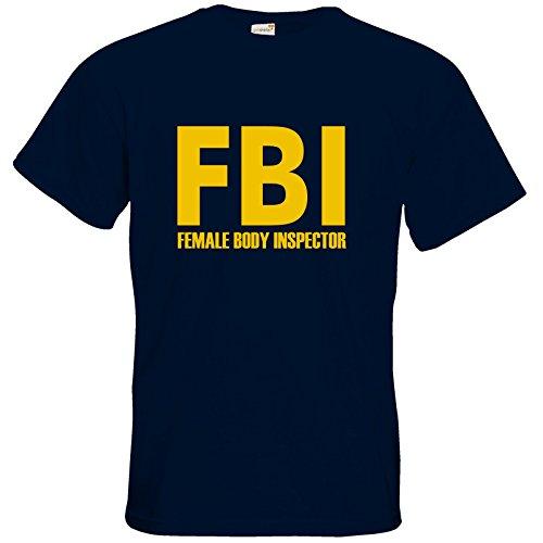 getshirts - Best of - T-Shirt - Fun - FBI Female Body Inspector - navy L (Female Body)