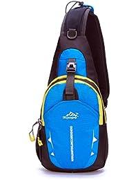 Blue : Culater® Unisex Sports Running Waterproof Nylon Cross Body Shoulder Bag Chest Bag (Blue)