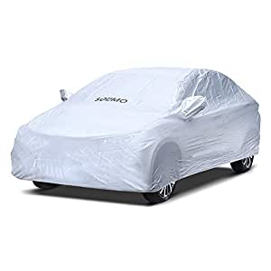 Amazon Brand - Solimo Toyota Etios Water Resistant Car Cover (Silver)