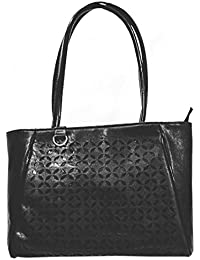 HALO NATION Hand Bags For Ladies Faux Leather - Spacious, Durable Shoulder Bags For Women - Black